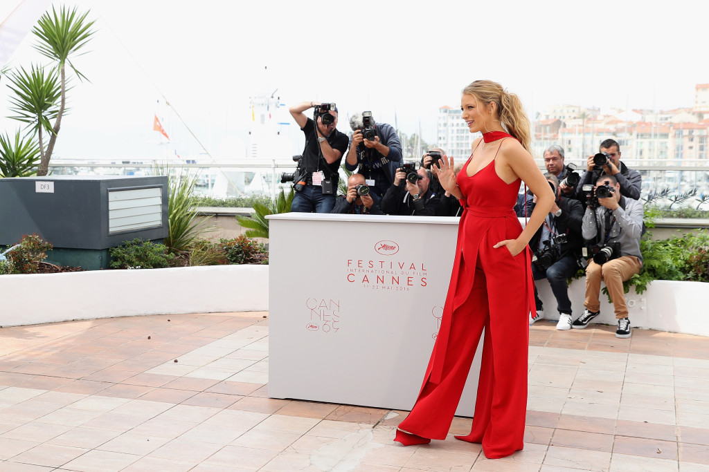 """CANNES, FRANCE - MAY 11: Blake Lively attends the """"Cafe Society"""" Photocall during The 69th Annual Cannes Film Festival on May 11, 2016 in Cannes, France. (Photo by Andreas Rentz/Getty Images)"""