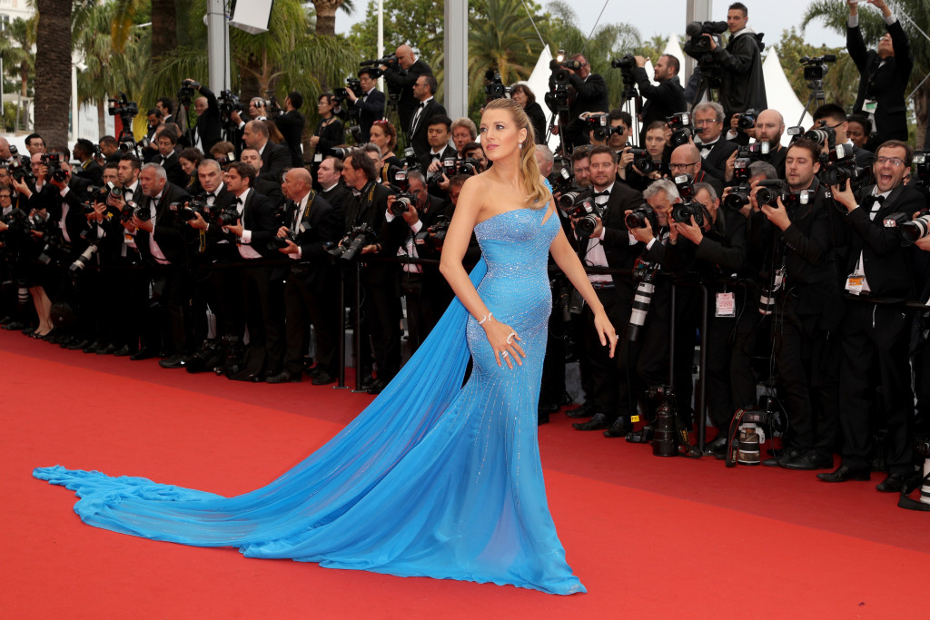 """CANNES, FRANCE - MAY 14: Blake Lively attends """"The BFG (Le Bon Gros Geant - Le BGG)"""" premiere during the 69th annual Cannes Film Festival at the Palais des Festivals on May 14, 2016 in Cannes, France. (Photo by Andreas Rentz/Getty Images)"""